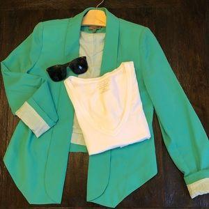 Turquoise blazer- aryn K. Nordstrom